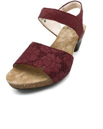 Think! Damen Sandalen rot Bluetenmuster